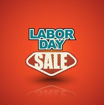 Banner de venta del día del trabajo.