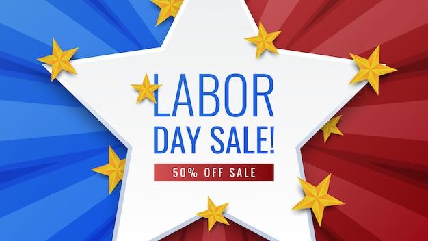 Banner de venta del día del trabajo