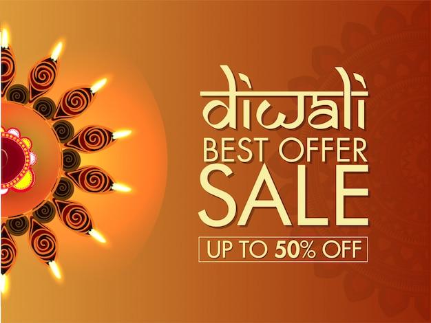 Banner de venta de diwali.