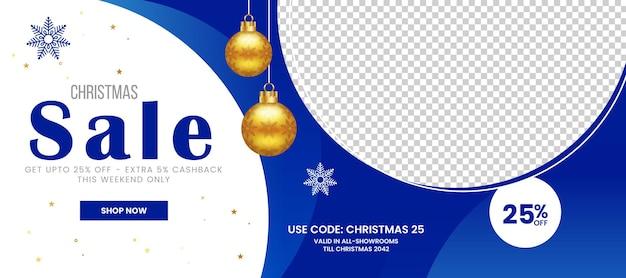 Banner de venta especial de navidad promoción de productos plantilla de banner de publicación de instagram en redes sociales