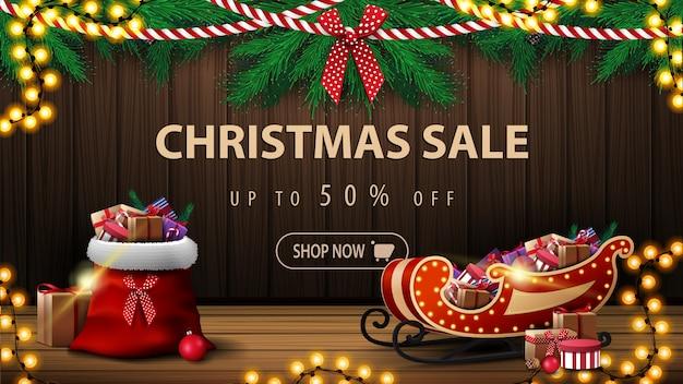 Banner de venta de feliz navidad