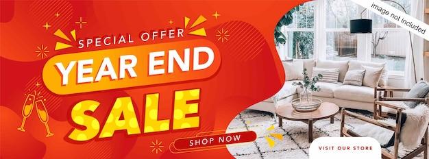 Banner de venta de fin de año