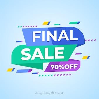 Banner de venta final colorido abstracto