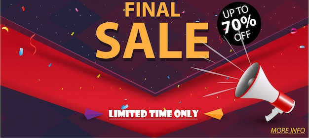 Banner de venta final y mejor oferta de diseño.