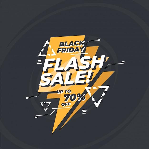 Banner de venta flash moderno