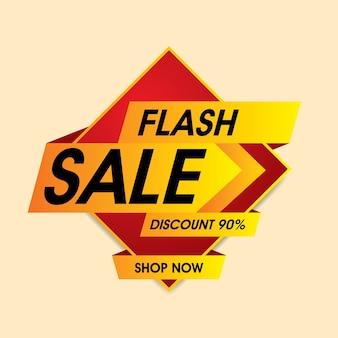 Banner de venta flash. venta y descuento vector