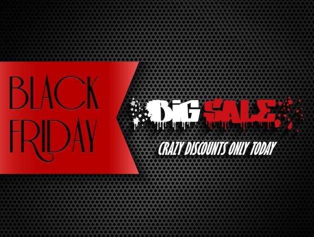 Banner de venta grande de viernes negro