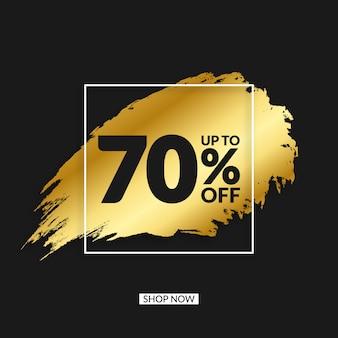 Banner de venta grunge dorado