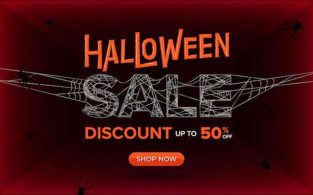 Banner de venta de halloween