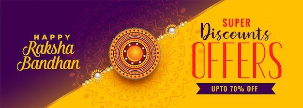 Banner de venta hermosa raksha bandhan