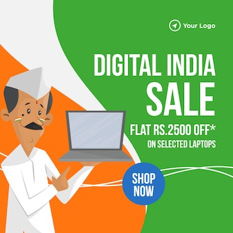 Banner de venta de india digital