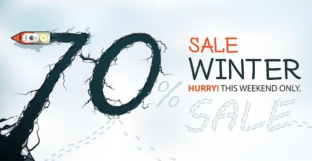 Banner de venta de invierno