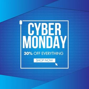 Banner de venta de lunes cibernético