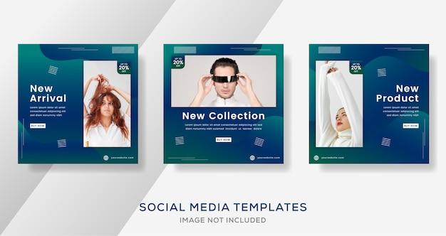 Banner de venta de moda moderna con color degradado