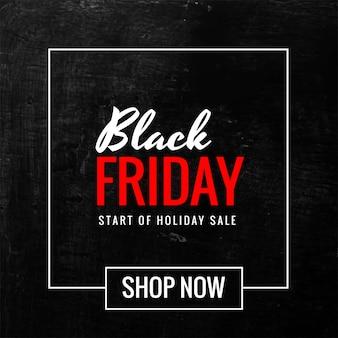 Banner de venta moderna de viernes negro
