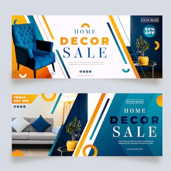 Banner de venta de muebles degradados