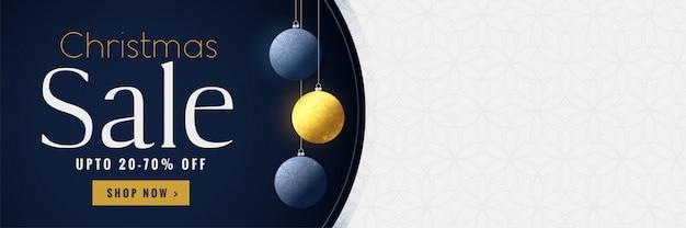 Banner de venta de navidad con espacio de texto