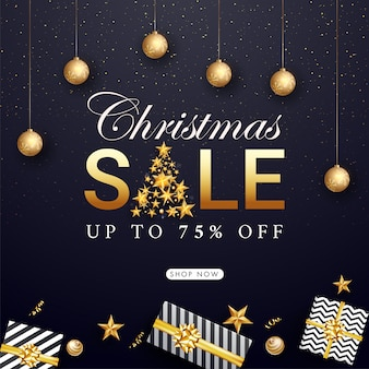 Banner de venta de navidad
