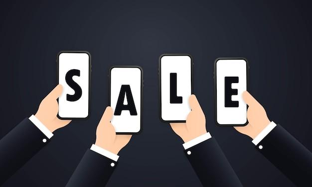 Banner de venta, oferta de descuento