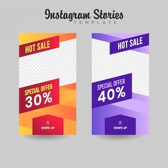 Banner de venta de plantilla de historias de instagram premium