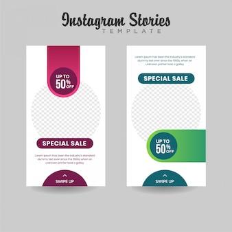 Banner de venta de plantillas de historias de instagram