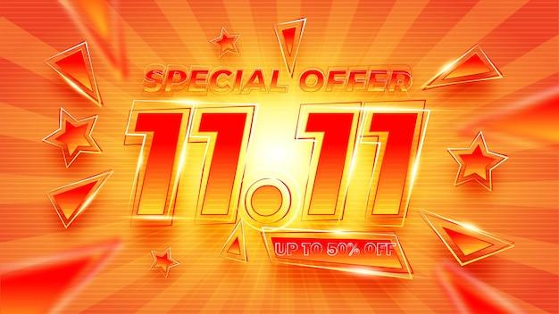 Banner de venta de promoción con efecto vectorial