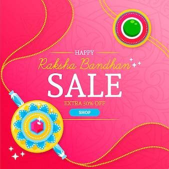 Banner de venta de raksha bandhan