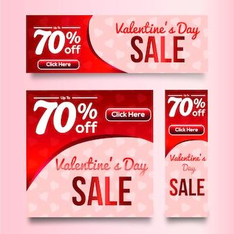 Banner de venta de san valentin