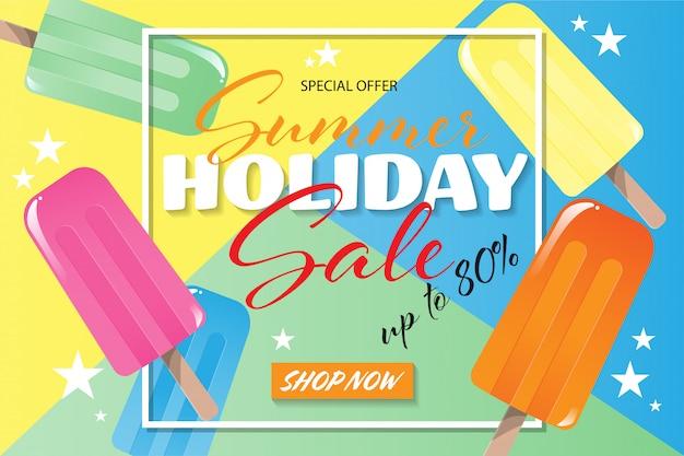 Banner de venta de vacaciones de verano