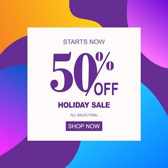 Banner de venta de vacaciones