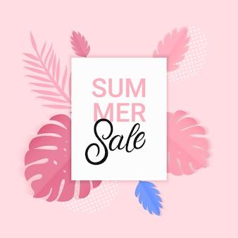 Banner de venta de verano.
