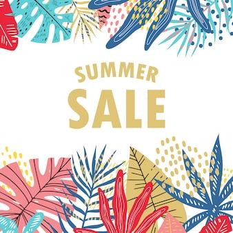 Banner de venta de verano