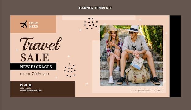 Banner de venta de viajes planos