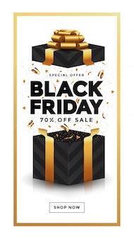 Banner de venta de viernes negro 4