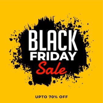 Banner de venta de viernes negro en estilo grunge
