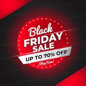 Banner de venta de viernes negro con formas abstractas vector