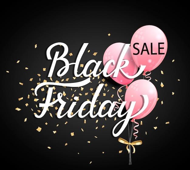 Banner de venta de viernes negro. ilustración vectorial