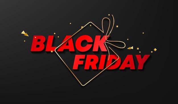 Banner de venta de viernes negro. ilustración.