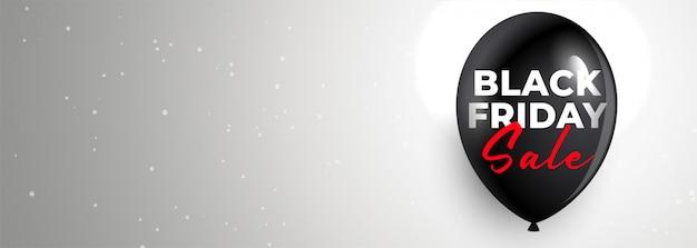 Banner de venta de viernes negro limpio con espacio de texto