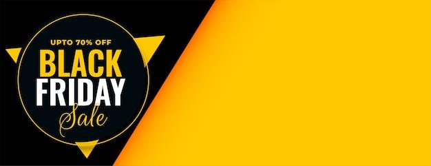Banner de venta de viernes negro con oferta de descuento