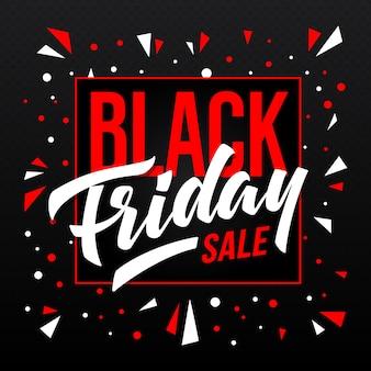 Banner de venta de viernes negro. plantilla para publicidad.