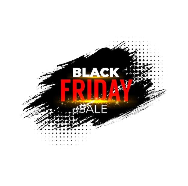 Banner de venta de viernes negro, promoción de descuento de tienda.