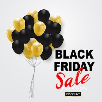 Banner de venta de viernes negro,