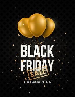Banner de venta de viernes negro.