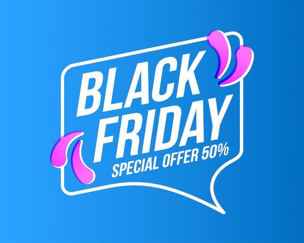 Banner de venta de viernes negro