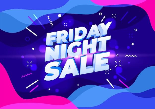 Banner de venta de viernes por la noche. diseño de plantilla de banner de venta.