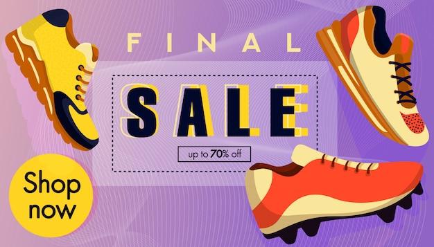 Banner de venta. zapatillas de deporte