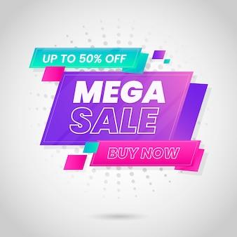 Banner de ventas colorido abstracto