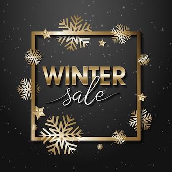 Banner de ventas de invierno