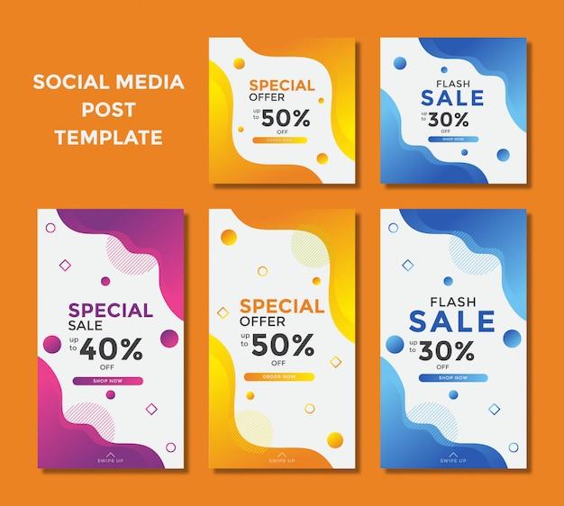 Banner de ventas moderno para publicación en instagram de redes sociales